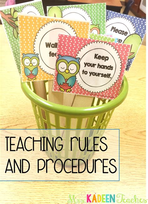 KadeenTeaches   Teaching rules, Preschool rules, Owl classroom