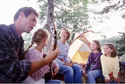 Singing Songs Folk Together Children Camping Popular