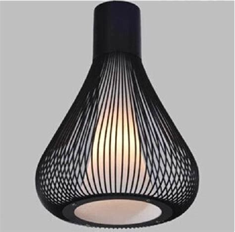 Black Wrought Iron Pendant Light Italy Design Modern