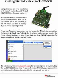 Z Stack Getting Started Guide Cc2530