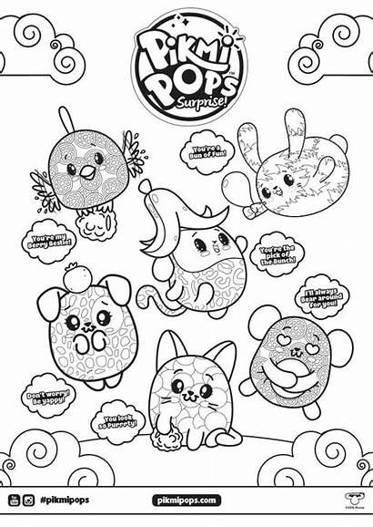 Pops Pikmi Coloring Pages Surprise Party Pop