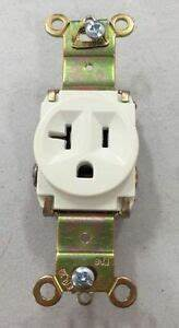 New  Pass  U0026 Seymour Legrand Single Receptacle White 20a