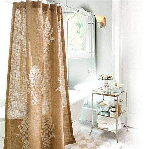 burlap shower curtain burlap crewel damask shower curtain ballard designs
