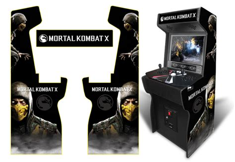 mortal kombat arcade cabinet decals 187 customer submitted custom permanent size scorpion