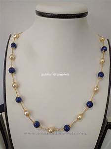 Indian Pearl Chain Necklace Design   Pearl chain, Gold ...