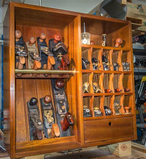 mahogany plane  plane cabinet tool storage woodshop woodworking tool set