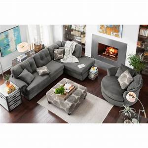 cordelle 2 piece right facing chaise sectional gray With gray sectional sofa value city