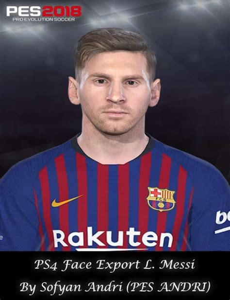 Lionel Messi Face (FC Barcelona) - PES 2018 - PATCH PES ...