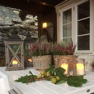 hauseingang home inspiration autumn fall herbst With whirlpool garten mit laterne balkon kerze
