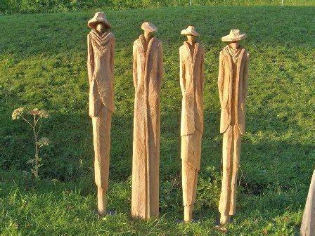 Holzskulpturen Für Den Garten by Die Besten 25 Skulpturen Aus Holz Ideen Auf