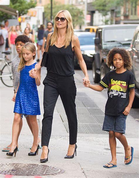Heidi Klum Daughters Spotted Wearing High Heels Hello