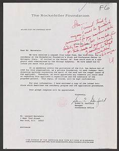Letter To Ask For Recommendation Letter Of Recommendation For Lukas Foss Rockefeller