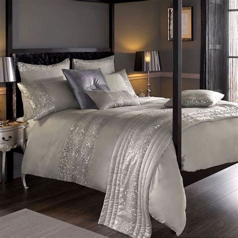 kylie minogue home leopard silver luxury embellished duvet