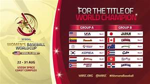 WBSC reveals Groups for Women's Baseball World Cup 2018 ...
