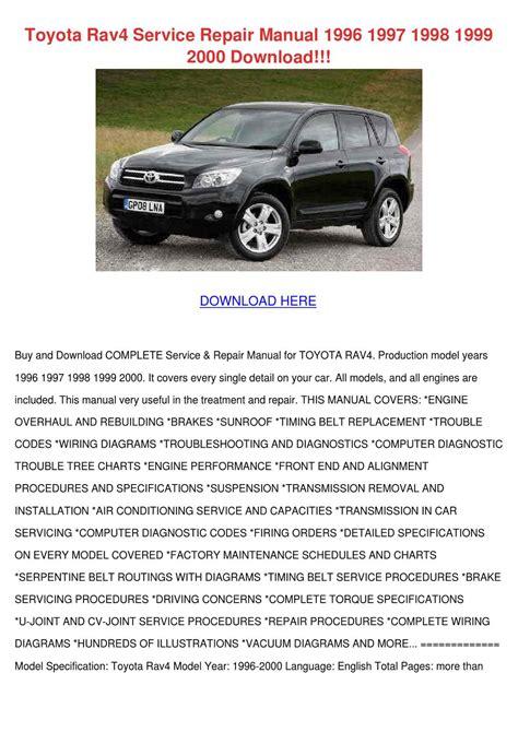 free car manuals to download 1997 toyota rav4 instrument cluster toyota rav4 service repair manual 1996 1997 1 by