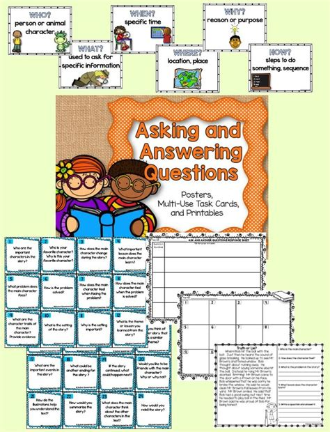 Asking And Answering Questions Rl21  Word Poster, Reading Skills And Recording Sheets