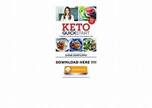 Keto Quick Start  A Beginner U0026 39 S Guide To A Whole