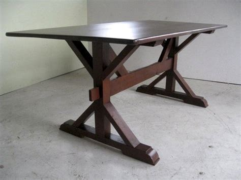X Cross Style Trestle Table Base   ECustomFinishes