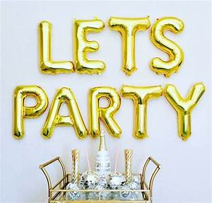 lets party party letter balloons gold balloon by With stores that sell letter balloons
