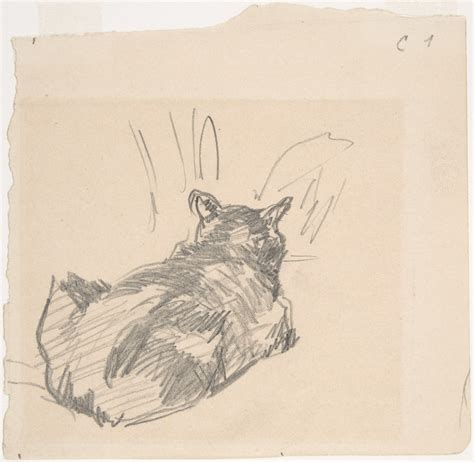 Manet Full Form by 201 Douard Manet A Cat Resting On All Fours Seen From