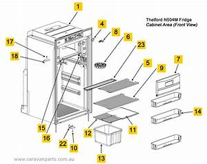 Spare Parts Diagram  Thetford N504m Fridge