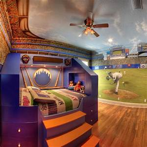 Home Run Theme Bed and Mural and Custom Design Services