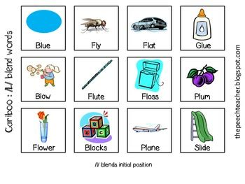 free cariboo articulation cards l and l blends with a