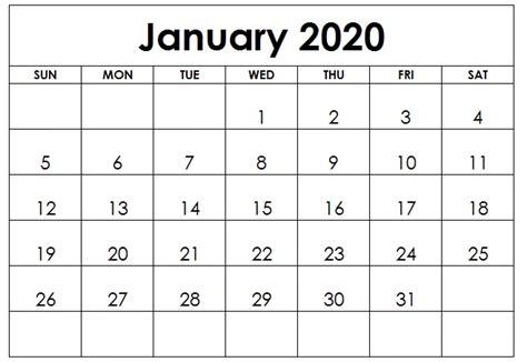 editable january calendar printable blank template notes