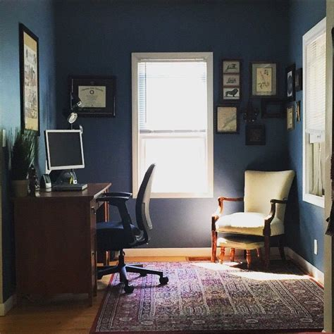 sherwin williams smoky blue office decor home is