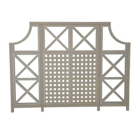 yardistry 84 in x 2 in cedar garden screen kit ym11535