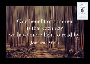 Summer Reading ... Jeannette Walls Quotes