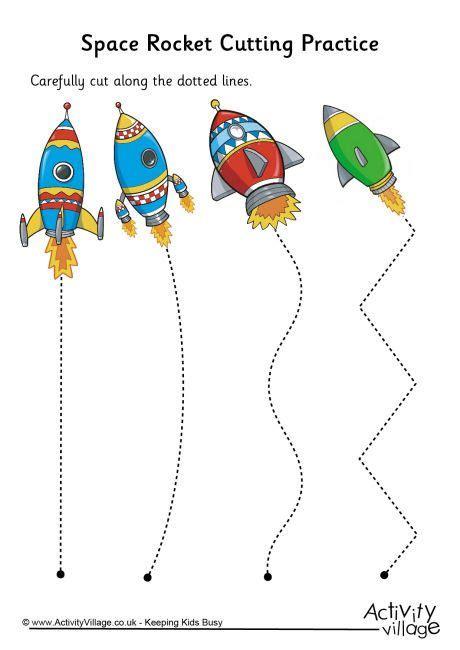 space rocket cutting practice pre k and kindergarten 154 | e8657536b283b2fecdc8471ce3a97031