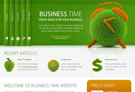 business website templates free well designed psd website templates for free