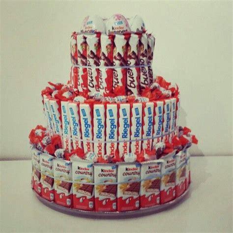 kinderschokolade torte basteln kinder torte geschenkideen
