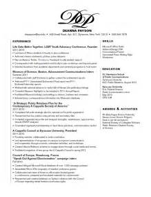 awards section on resume exle resume leadership section virtren