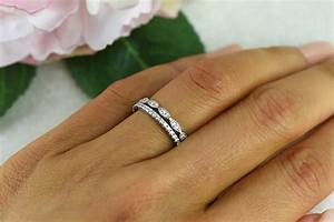 art deco wedding band and half eternity band delicate With engagement wedding and eternity ring