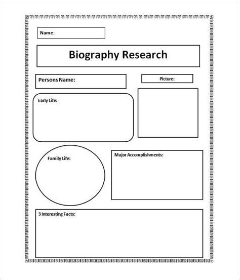 Biografie Vorlage by 10 Biography Templates Word Excel Pdf Formats