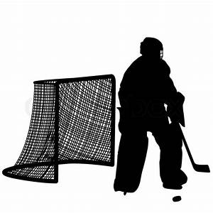 Silhouettes Of Hockey Player Goalkeeper
