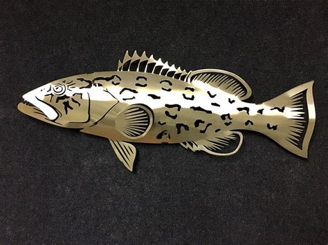 grouper stainless steel brushed finish