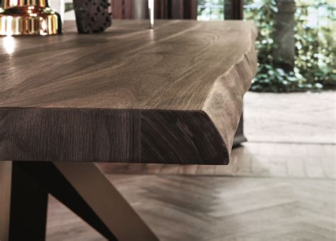 bonaldo big dining table  american walnut  natural
