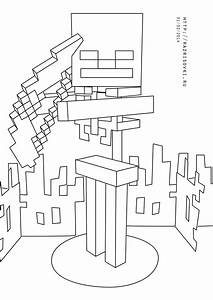 4 Best Images Of Minecraft Wither Coloring Pages Printable