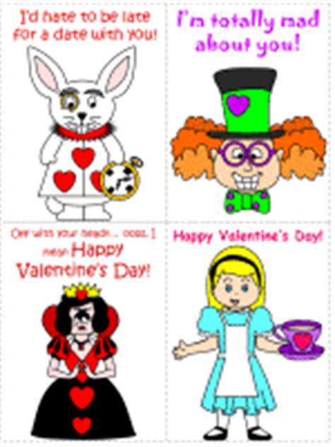 printable cartoon valentines day cards