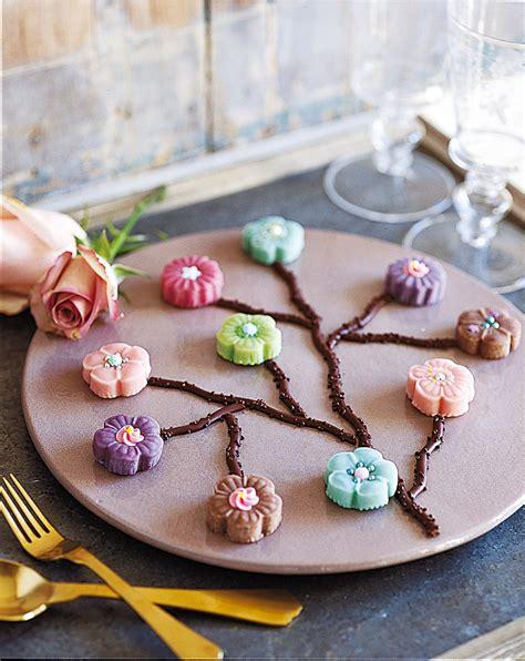 decoration gateau anniversaire pate amande d 233 cor fleurs japonaises g 226 teau p 226 te d amande