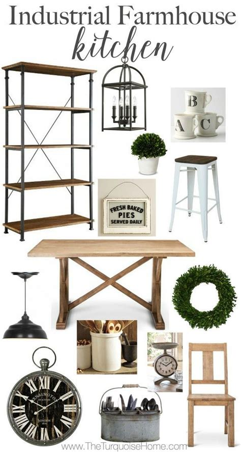 Get Look Farmhouse Style by Industrial Farmhouse Kitchen Style Trend Diy Best