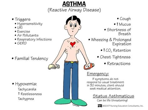 pathophysiology  asthma nursing school pinterest