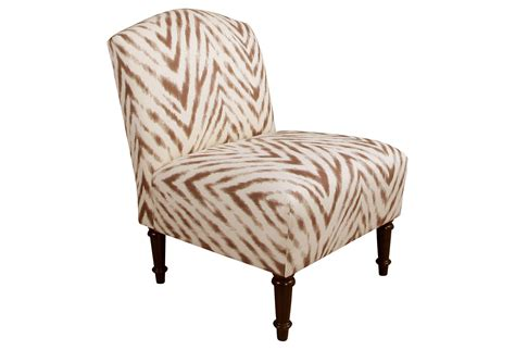 clark slipper chair brown zebra from one