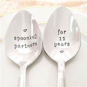 11th anniversary gift traditional stainless steel spoons With what is the gift for 11th wedding anniversary