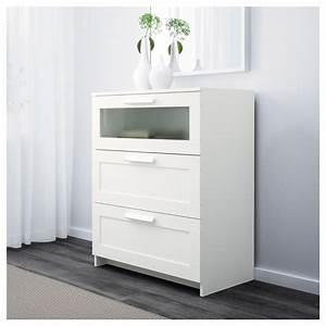 Ikea Tagesbett Brimnes : brimnes chest of 3 drawers white frosted glass 78 x 95 cm ikea ~ Watch28wear.com Haus und Dekorationen