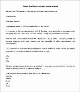 cover letter template 20 free word pdf documents With cover letter should be attached in the email