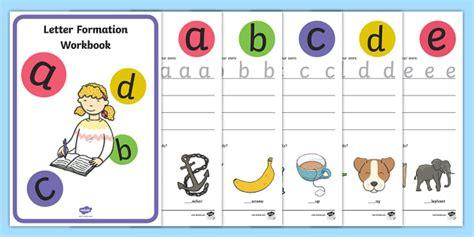 letter formation activity booklet australia letter